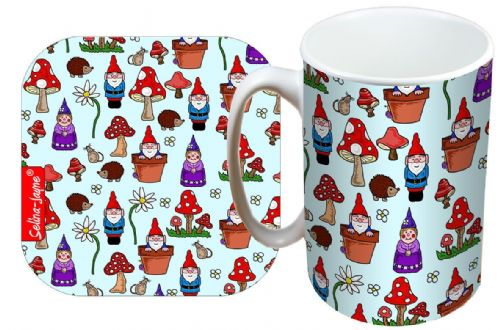 Selina-Jayne Gnomes Limited Edition Designer Mug and Coaster Gift Set